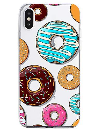 Oihxse Silicona Funda iPhone 6/iPhone 6S Transparente Ultradelgado TPU Protector Carcasa Cover [Vistoso Postre Dulce Modelo Diseño ] Bumper Gel Case(Dulce A5)