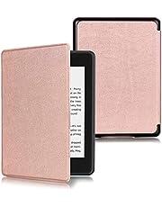KOMI etui ochronne ze skóry PU kompatybilne z czytnikiem Kindle Paperwhite 4 (10. generacji, wersja 2018), osłona ochronna na ebooka (różowo-różowy)