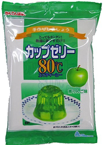 かんてんぱぱ カップゼリー 青りんご味100gX2袋 (約6人分x2袋)