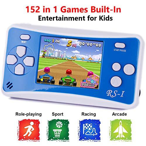 petit un compact Console de jeu portable QINGSHE, console portable électronique de style rétro classique avec écran LCD…