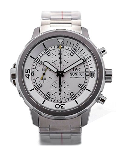 IWC MEN'S AQUATIMER 44MM STEEL BRACELET & CASE AUTOMATIC ANALOG WATCH...