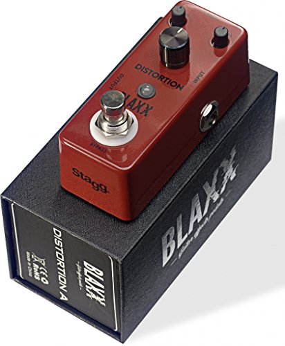 Stagg 22342 Blaxx Distortion Electric Guitar Effect Pedal