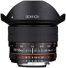 Rokinon 12mm F2.8 Full Frame Fisheye, Manual Focus Lens for Nikon F Mount with AE Chip