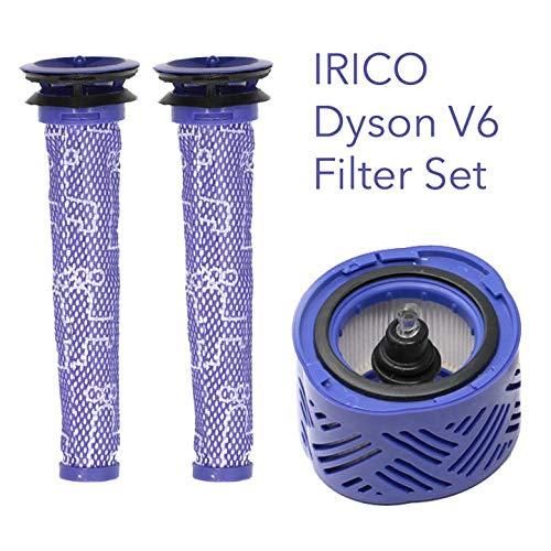 IRICO Dyson V6 Filter: 2 Pre Filters + 1 HEPA Post Filter for Dyson V6