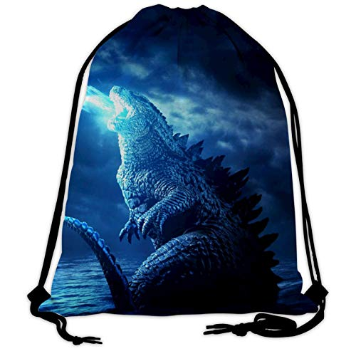 Godzilla-Poster - Mochila unisex con cordón para gimnasio, mochila deportiva para senderismo, natación, fitness