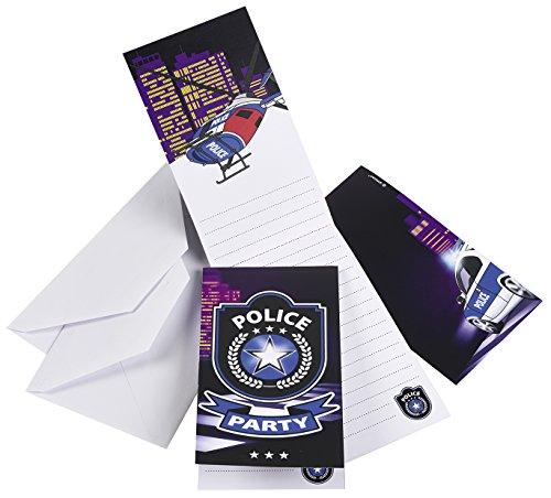 C. Riethmüller Einladungskarten Polizei im Einsatz, 8 Stück
