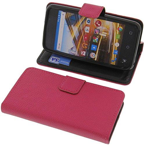 foto-kontor Tasche für Archos 40 Neon Book Style pink Schutz Hülle Buch