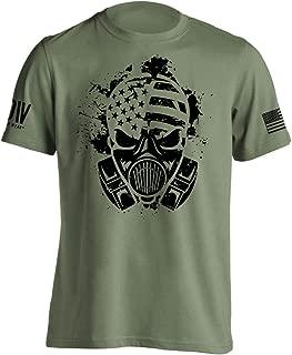Dion Wear Gas Mask American Survivor Military T-Shirt