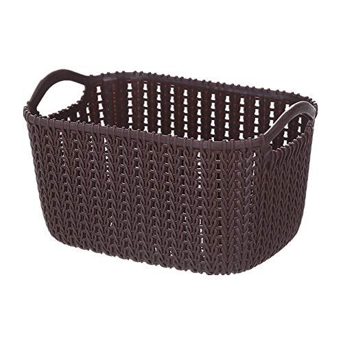YuoungYuan storage baskets fabric storage baskets small wicker basket basket storage desk storage wicker storage basket storage basket side table darkbrown