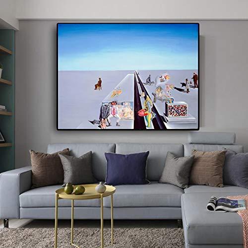 N / A Abstrakte Kunst Landschaftsplakat und Druckgrafik Wohnzimmer Leinwand Wandbild Malerei Hauptdekoration Rahmenlos 60x75cm