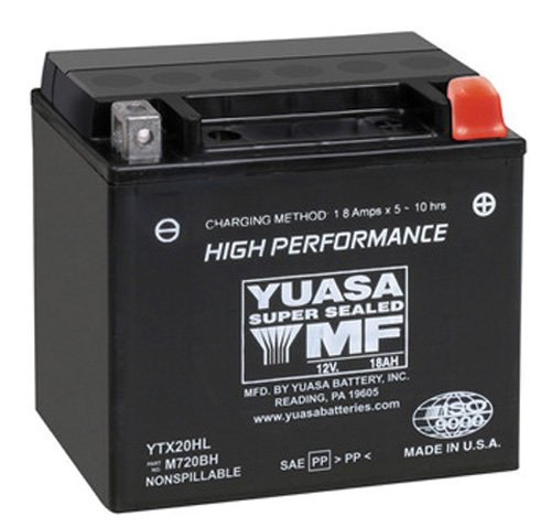 Yuasa YTX20HL Factory Activated Maintenance Free 12 Volt Batt