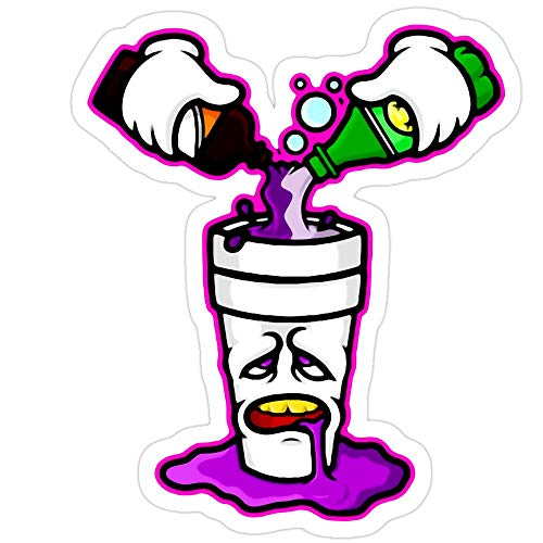 Sticker Vinyl Decal for Cars, Water Bottle, Fridge, Laptops Pour Up in Purple Stickers (3 Pcs/Pack)