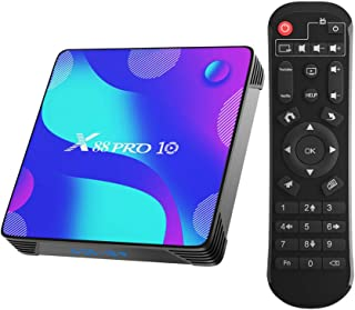 Android TV BOX, X10 Android 10.0 Smart Box 4GB RAM 32GB ROM RK3318 Quad-Core 64bit Cortex-A53 Support 2.4GHz/ 5GHz WiFi 4K...