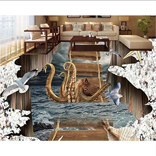 Wallpaper 3D werbung 3D Bodenbelag Anpassen PVC Wasserdicht-Tapete-Für-Bad Küche Vinyl Tapete Vinyl Bodenbelag Badezimmer-400X280CM