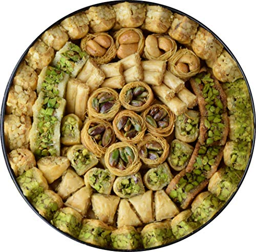 MASSARA Premium Edition Baklava Mix 700 Gramm Süßigkeiten in der Metalldose - Baklawa Geschenkbox gemischt mit Pistazien, Cashewnüssen und Pinienkernen