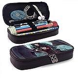 Vampire Princess Pencil Pen Case Zipper Bag Stationery Pouch Holder Box Organizador para Middle High School Office College