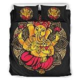 Bohohobo Colcha edredón elefante fundas nórdicas patrón europeo color oscuro...
