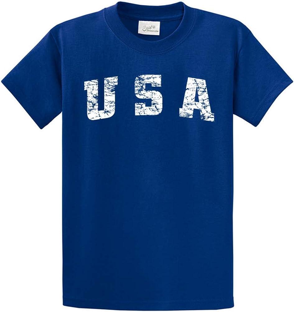 Joe's USA -Tall Vintage USA Logo Tee T-Shirts in Size 2X-Large Tall -2XLT