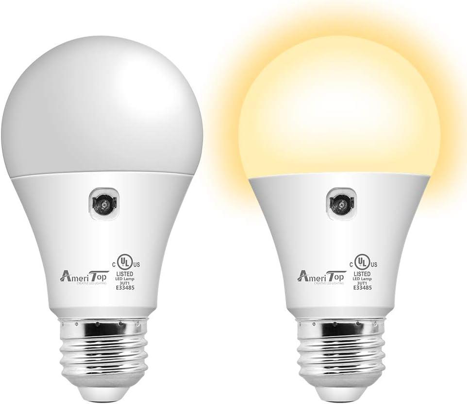 30 Dusk to Dawn Light Bulb  10 Pack, AmeriTop A10 LED Sensor Light ...