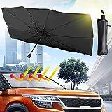 Ankuka Car Windshield Sun Shade Umbrella, Blocks UV Rays Reflecting Foldable Car Front Window Umbrella Block Heat and...