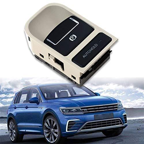 ZIHAN Feil Store EPB Electronic Handbrake Parking Switch Fit For-VW Tiguan Sharan Seat 5N0927225A (Color : Beige)