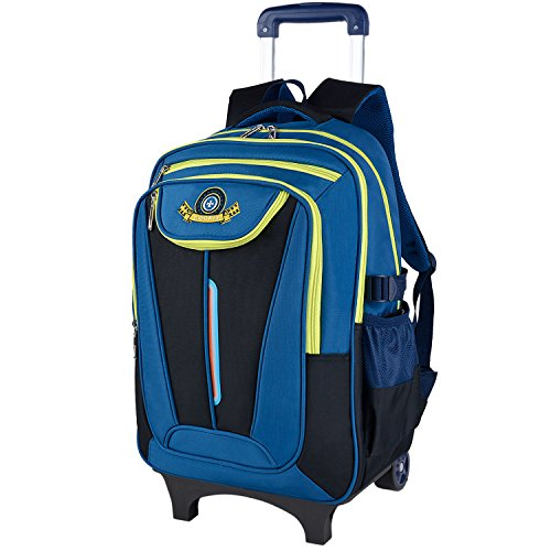 COOFIT Kids Trolley Backpack Rolling Backpacks for Kids School Bags for Boys Backpack with Wheels Travel Bag