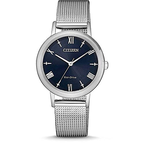 CITIZEN Damen Analog Eco-Drive Uhr mit Edelstahl Armband EM0571-83L