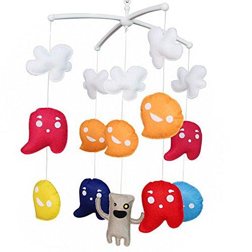 Décoration de pépinière de cadeau de jouet mobile de lit de bébé fait main pour 0-2 ans, MQ31