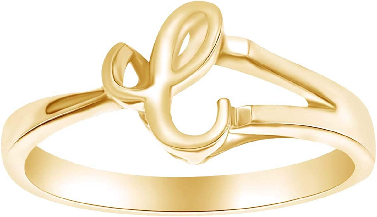 AFFY Alphabet Letter Special price for a limited time A-Z Elegant Initial Engagement in Fashion 14k Ring