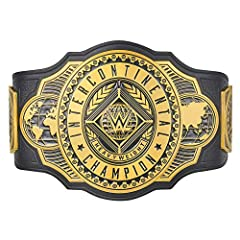 """Plate Material:Zinc Alloy Strap Material: Polyurethane Strap Dimensions:49 61"""" x 9 45"""" x 0 2"""" Largest Waist Size: 44"""" Weight: 5 lbs (2400g) Snap Fasteners Includes Carrying Bag with WWE Logo Plate Thickness 0"""
