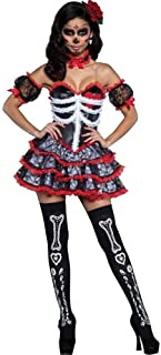 GWNJSSX Vampire Skeleton Demon Deadly Costume for Women Halloween Party Cosplay Outfit for Adult Ladies