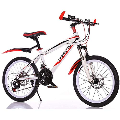 Gq2019 Children's Mountain Bike, 20 Inch Variable Speed Bikes, Student Double Disc Brake Outdoor Riding Men and Women Bicycles 21 Speed (Size : 22inches)