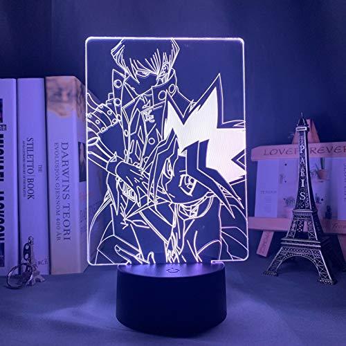 Yu Gi Oh Nuevo 3D óptico Lámpara 3D 16 Color LED Recargable Luz Lámpara de mesa de mesa Decoración hogareña 7 colores Efectos luminosos únicos para Regalo de la Navidad de los niños