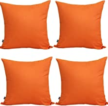 4-Pack Cotton Comfortable Solid Decorative Throw Pillow Case Square Cushion Cover Pillowcase (Cover Only,No Insert) (26x26...