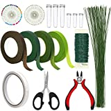 Floral Arrangement Kit, WEST BAY 11Pack Flower Tools Include Floral Wire Cutter Scissor Floral Tape 22 Gauge...