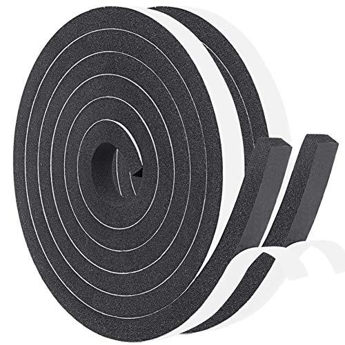 YoTacheすきまテープ エッジクッションテープ 緩衝材 発泡ゴム すき間 戸あたり スポンジ 12mm (幅) x 10mm (厚さ) x 2m (長さ) x 2本