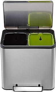 EKO Recycling Bin, Stainless Steel Matt, 32,1 x 40,4 x 49,2 cm