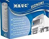 RNK 3104HAUG rollos de papel térmico digital tachographen–Economy, 8m x 57mm, 3Ruedas