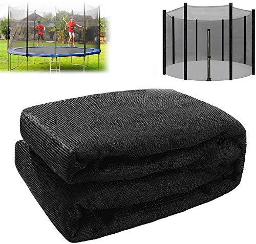 MeTikTok Red de trampolín Ø 140183 244 305 366 488cm Adecuado para 6/8 Postes, Red de Repuesto para trampolín de jardín, Red Protectora para trampolín de Repuesto,427cm 8 Poles