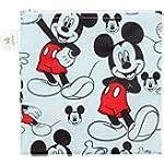 Bumkins Disney Mickey Mouse Sandwich Bag / Snack Bag, Reusable, Washable, Food Safe, BPA Free, 7x7 , Pack of 1
