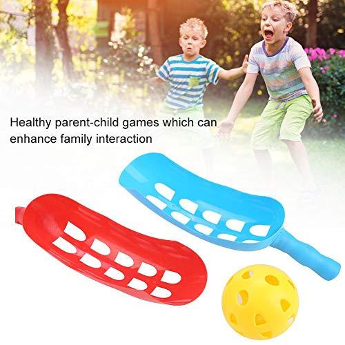 Alomejor Wurf- und Fangball Schaufel Ball Spielzeug Sommerkinder Scoop Ball Set Sportspiele Gesunde Eltern-Kind Spiele
