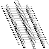 Heavy-Duty Add-On Metal Skirt Hangers with Clips (20 Pack) Multi Stackable Add on