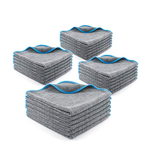 LICARGO® Lackschonende Mikrofasertücher mit 380 GSM - extrem saugstark und schonend weich - fusselfreie Poliertücher für die Pflege von Auto und Motorrad - Auto Microfasertücher - 40 x 40 cm (24)