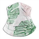 Linger In Cuello Bufanda Vintage Trópico Hojas Acuarela Pasamontañas exótica Máscara de esquí Invierno Más cálido Abrigo para la Cabeza