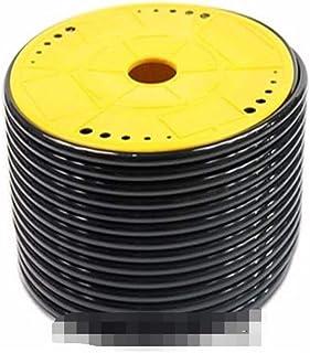 Wang shufang 1pc Tube PU pneumatique Tuyau 4 mm x 6 mm for pneumatique 25meter Couleur Noir