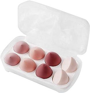 8Pcs Makeup Sponge Beauty Set Powder Foundation Blush Blender Makeup Accessories Cosmetic Tools Blending Sponges (pink)