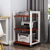 JKXWX Función múltiple Soporte de Impresora Suministros de Oficina de Portable Desk Impresora de Almacenamiento con 4 Ruedas & Lock Mecanismo de Impresora 3D Mini, H 79cm Estante de Almacenamiento