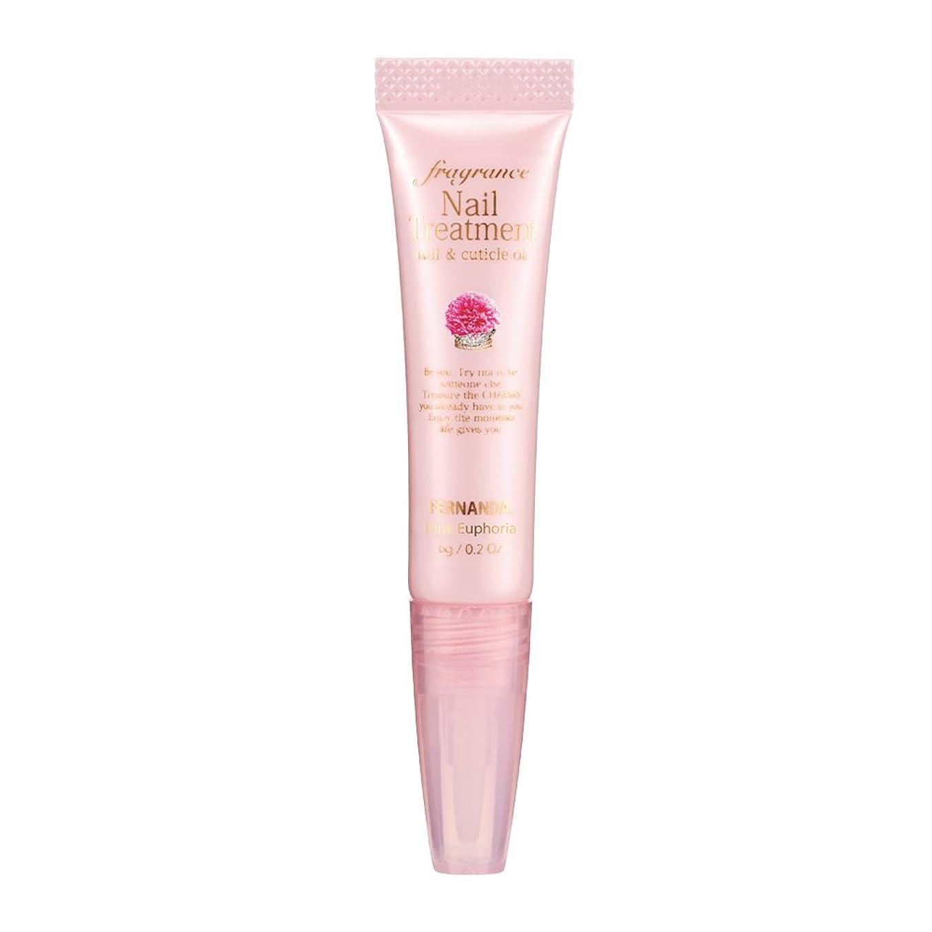 遅らせる誘惑するスプレーFERNANDA(フェルナンダ) Fragrance Nail Treatment Pink Euphoria (ネイルトリートメント ピンクエウフォリア)