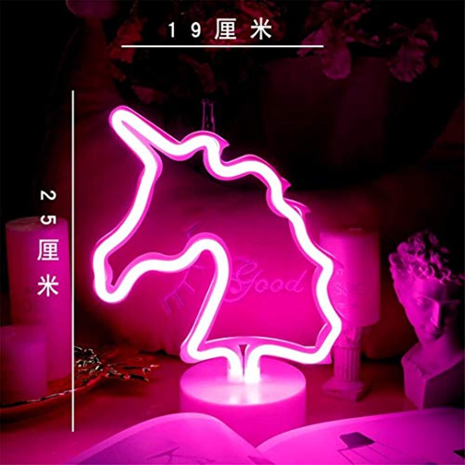 QiXian Ceiling Light Ceiling Lamps Night Lamps Led Neon Girl Room Layout Girl Heart Bedroom ins Decorative Light Lamp Unicorn Night Lamps