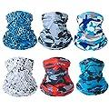 Fashion Face Dust Mask (6 PCS) Bandanas Sports & Casual Headwear Seamless Neck Gaiter, Headwrap, Balaclava, Helmet Liner by nicebaby
